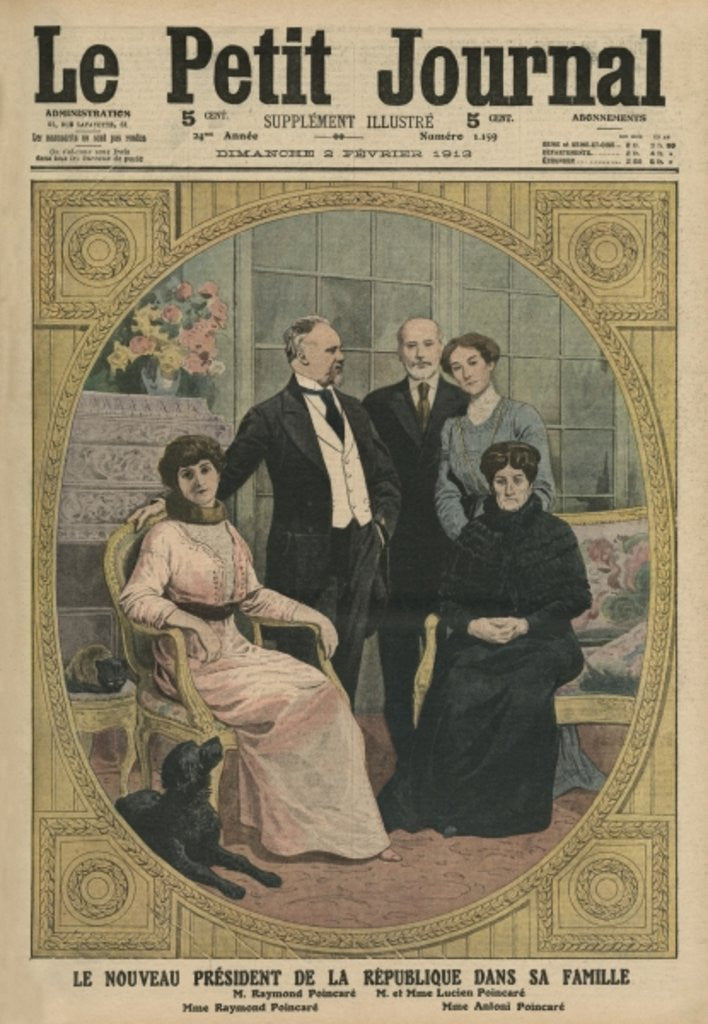 Detail of The new President of the French Republic, Raymond Poincare, with his family by French School