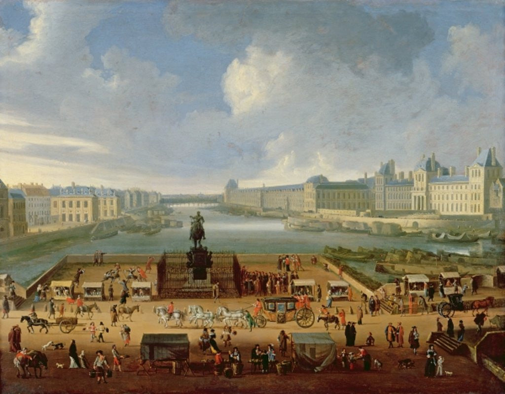 Detail of The Seine, the Louvre and the College of the Four Nations seen from Pont Neuf by French School