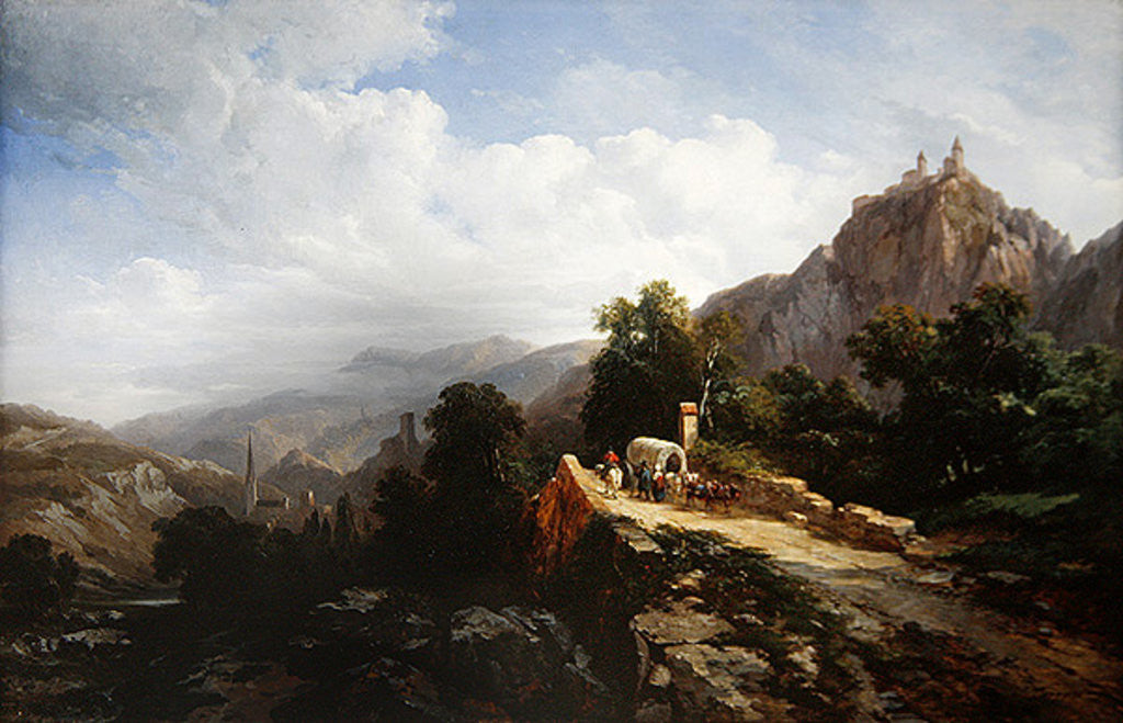 Detail of Road to Tyrol by Jules Coignet