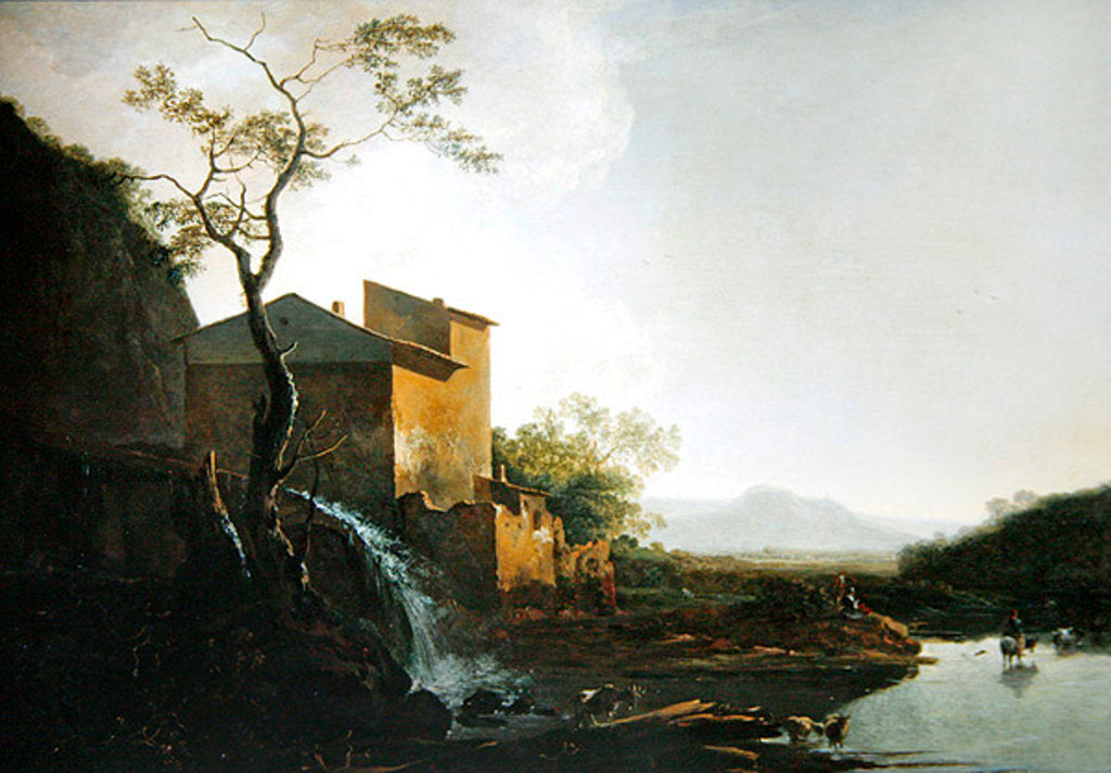 Detail of Landscape with Watermill by Jan Asselyn