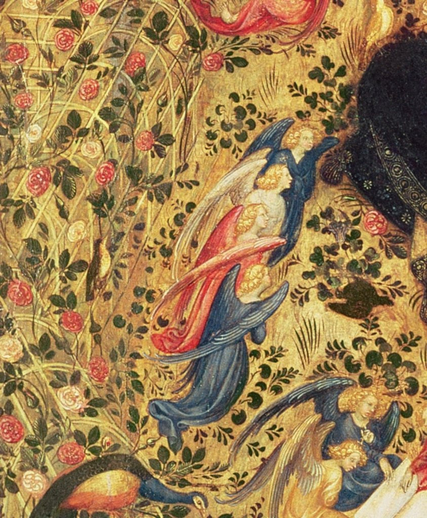 Detail of Madonna with a Rose Bush by Stefano di Giovanni da Verona