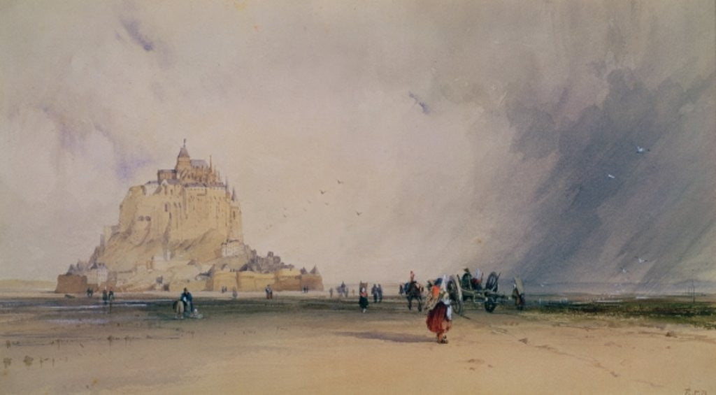 Detail of Mont Saint Michel by Richard Parkes Bonington