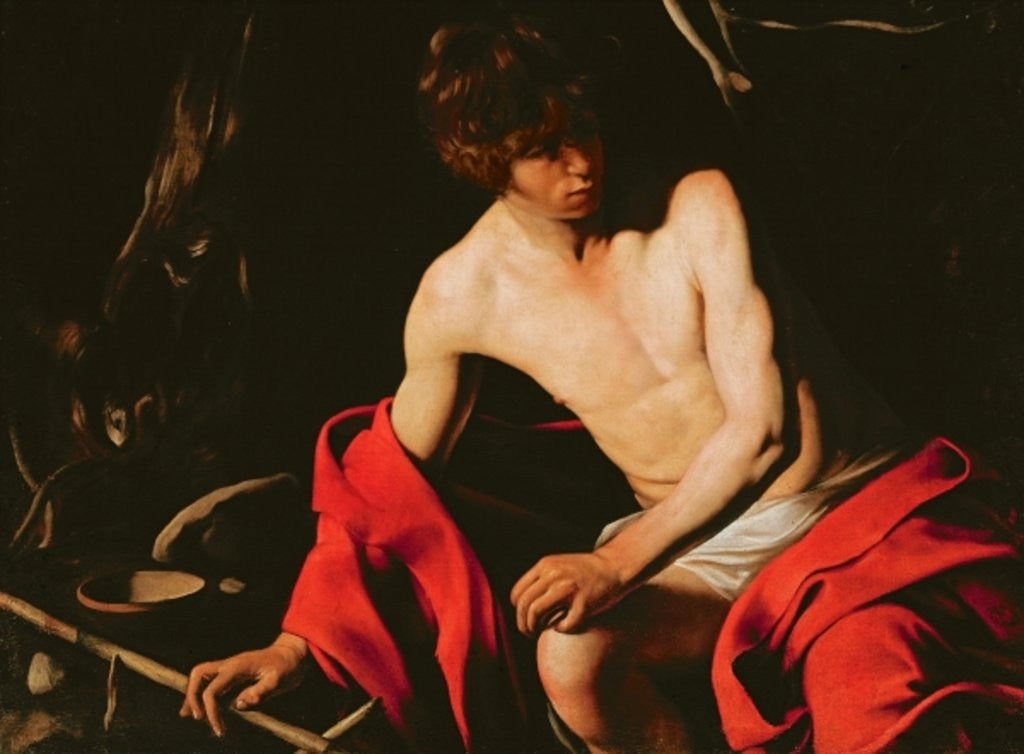 Detail of St. John the Baptist by Michelangelo Caravaggio