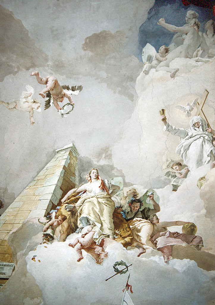 Detail of The Glory of Spain by Giovanni Battista Tiepolo