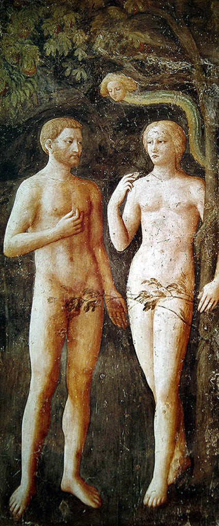 Detail of The Temptation of Adam and Eve by Tommaso Masolino da Panicale