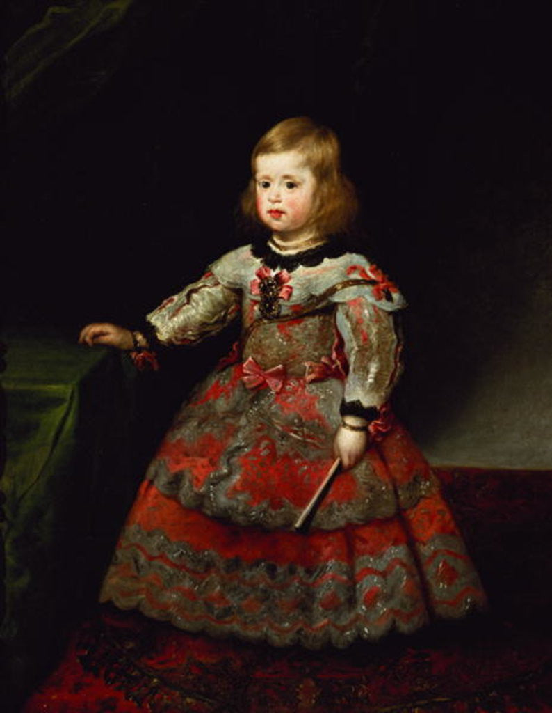 Detail of The Infanta Maria Margarita of Austria as a Child by Diego Rodriguez de Silva y Velazquez