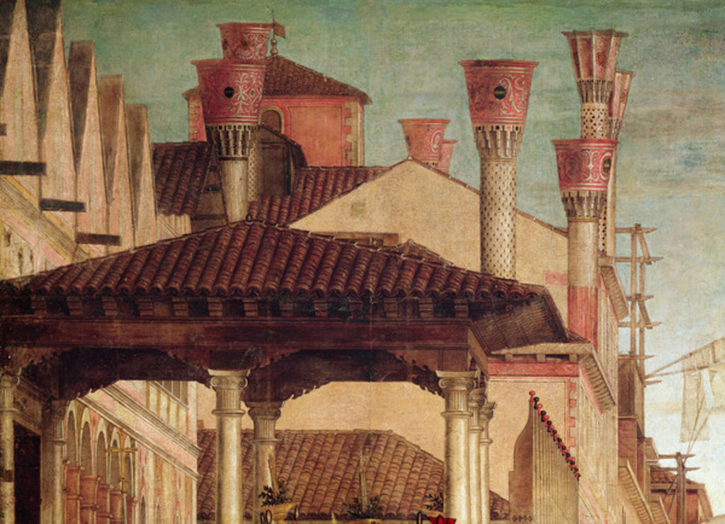 Detail of Detail of the Miracle of the Relic of the True Cross on the Rialto Bridge by Vittore Carpaccio