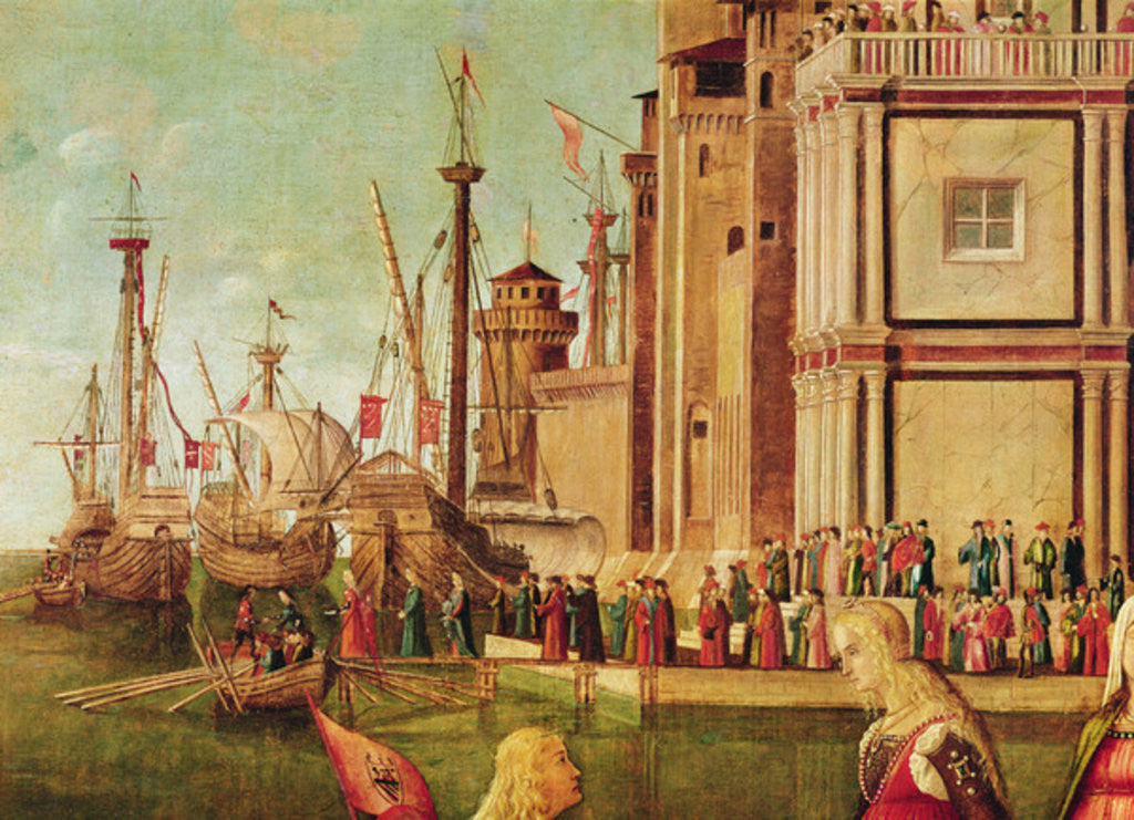 Detail of Detail of the Meeting of Etherius and Ursula and the Departure of the Pilgrims by Vittore Carpaccio