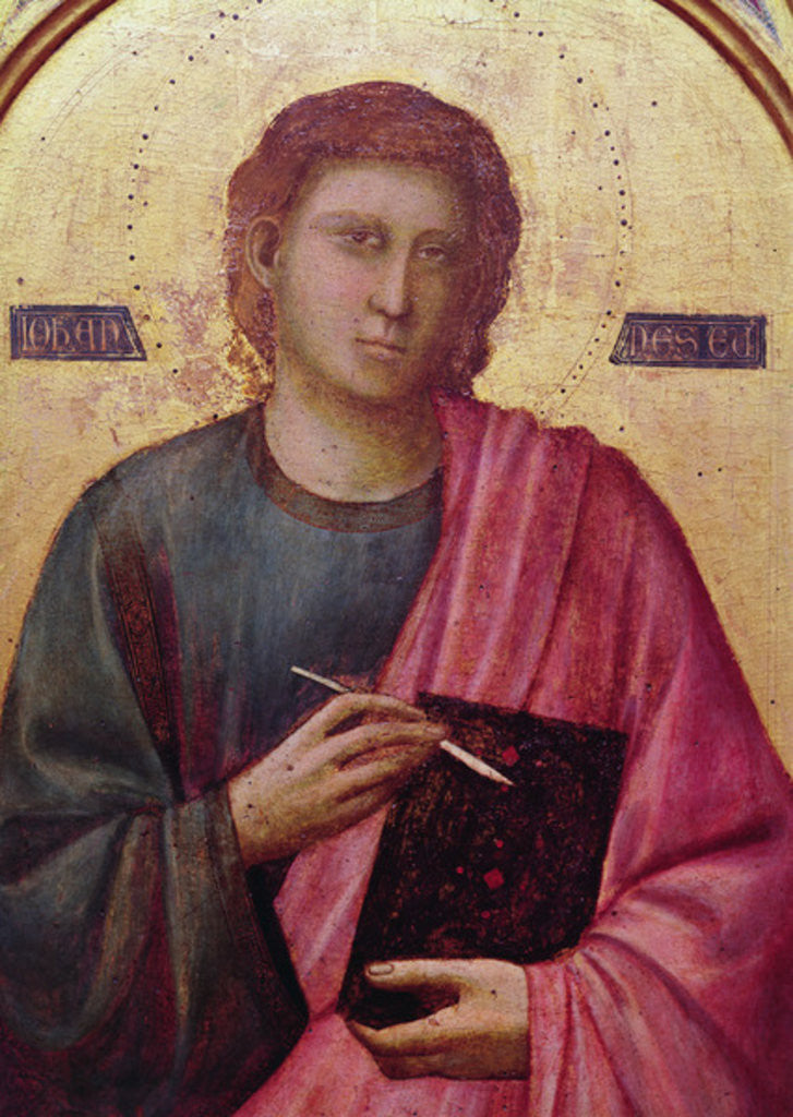 Detail of St. John the Evangelist, left panel of the Badia Altarpiece by Giotto di Bondone