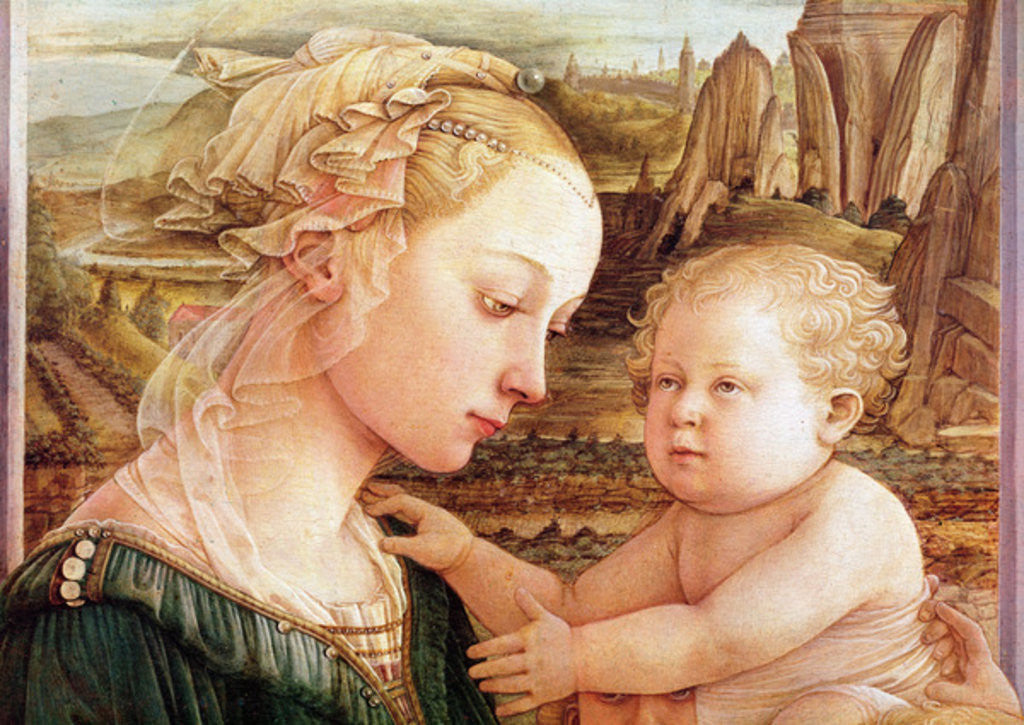 Detail of Madonna and Child with Angels by Fra Filippo Lippi