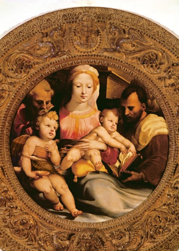 Detail of Detail of the Holy Family and St. John the Baptist by Domenico Beccafumi