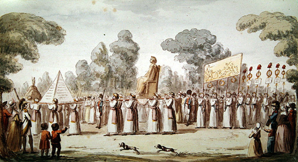 Detail of View of a Revolutionary Procession by French School