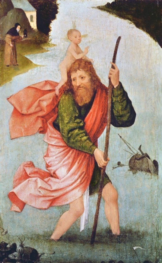 Detail of Saint Christopher by Hieronymous Bosch