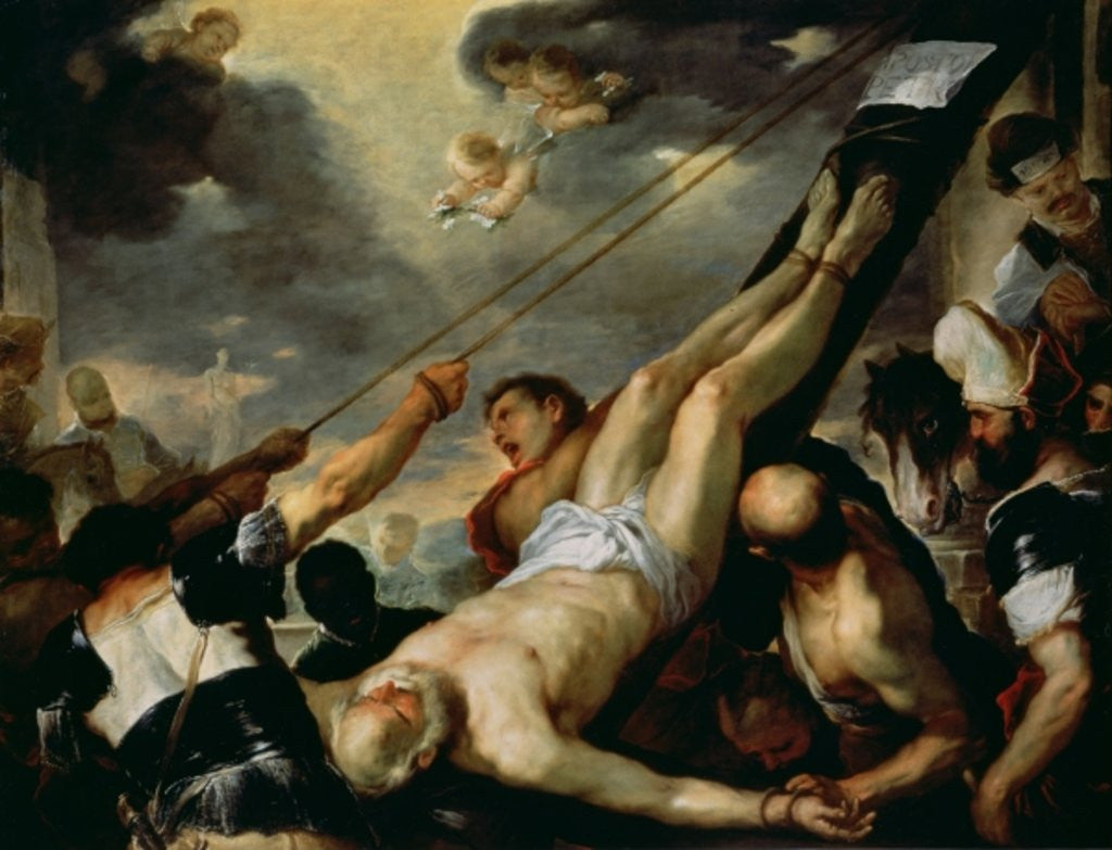 Detail of The Crucifixion of Saint Peter by Luca Giordano