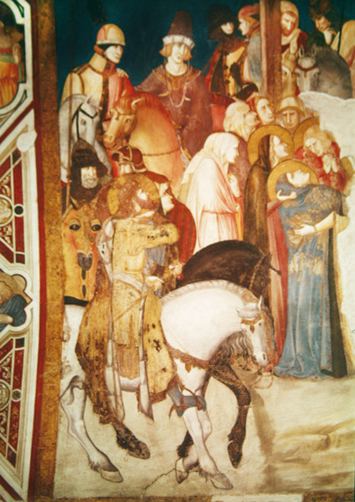 Detail of Calvary by Pietro Lorenzetti