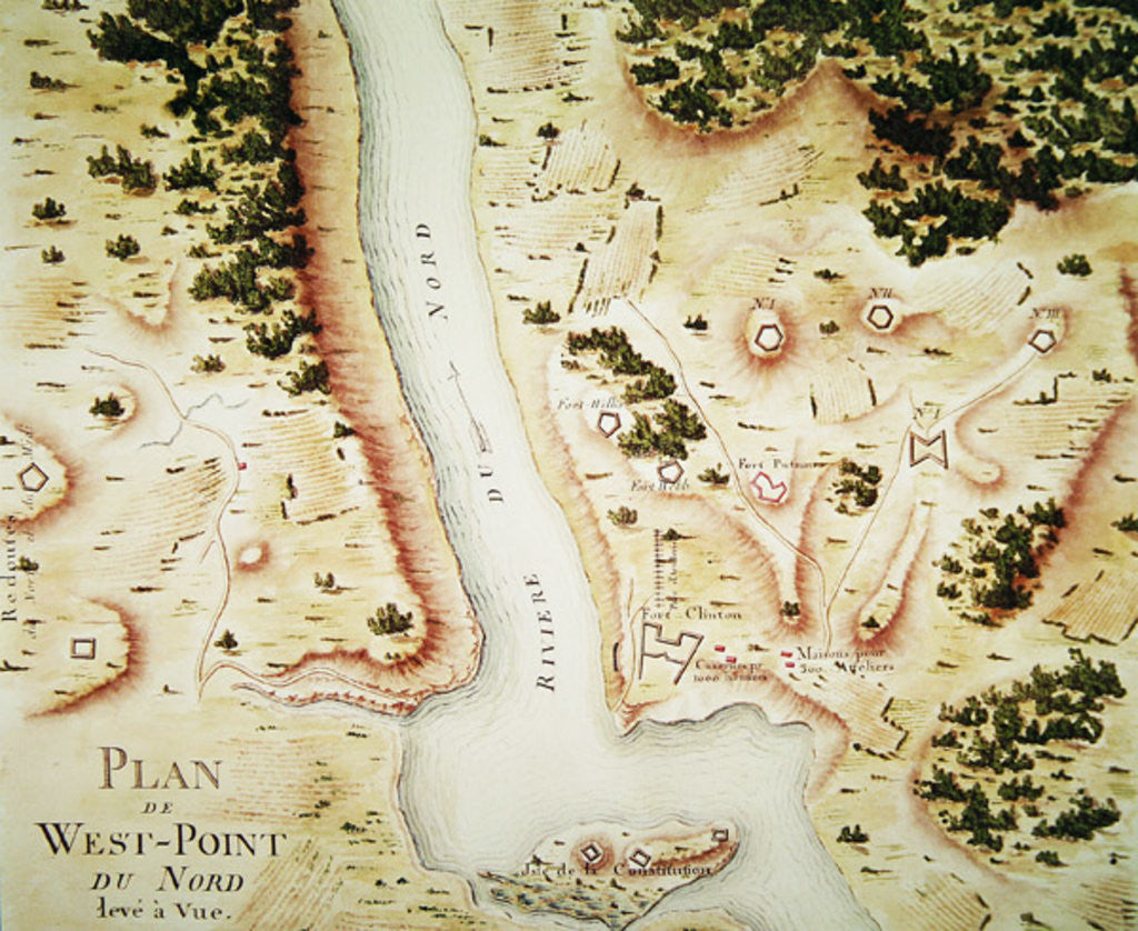 Detail of Map of north West-Point, Virginia by F. Dubourg