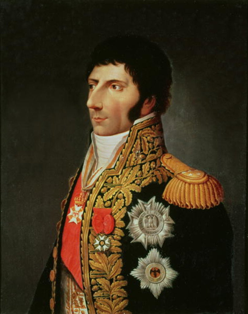 Detail of Portrait of Marshal Charles Jean Bernadotte by Johann Jacob de Lose