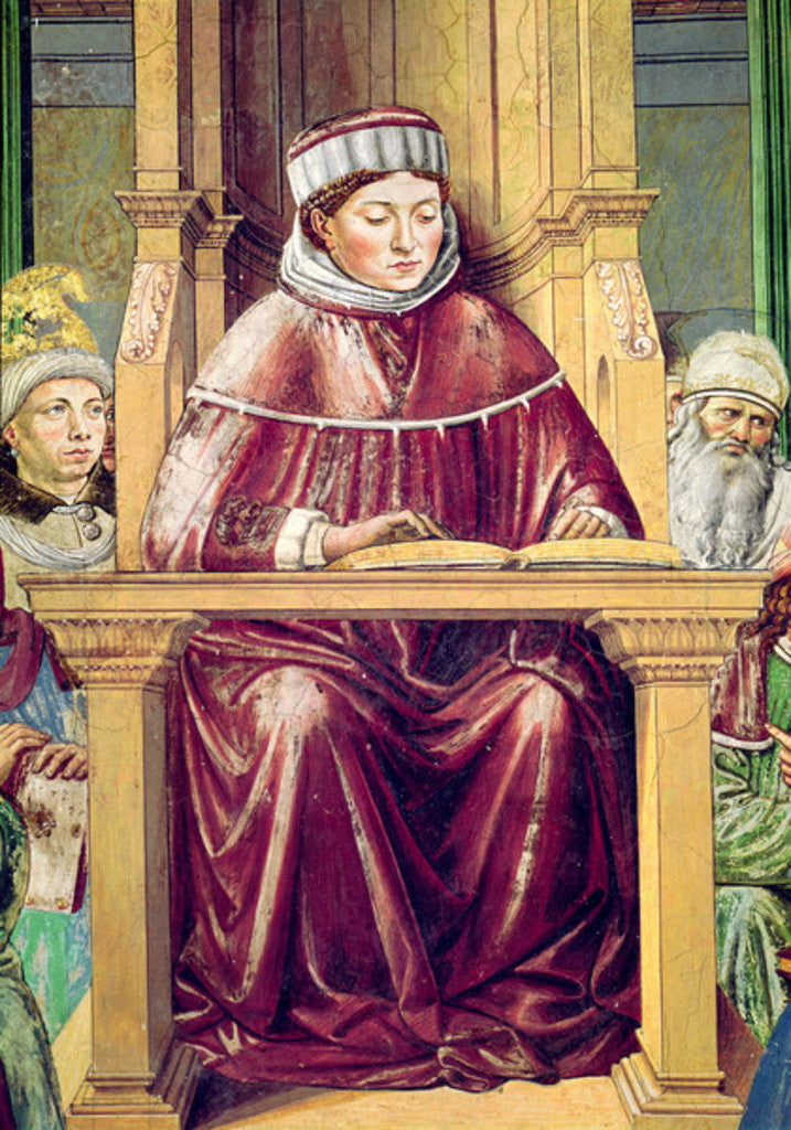Detail of Detail of St. Augustine Reading Rhetoric and Philosophy at the School of Rome by Benozzo di Lese di Sandro Gozzoli