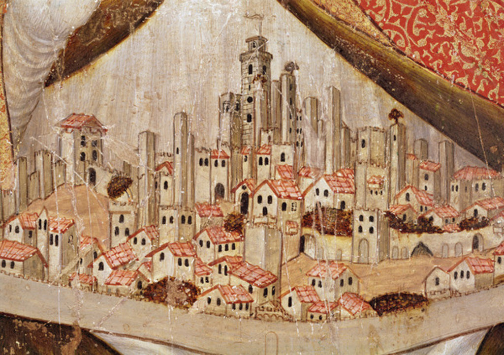 Detail of San Gimignano by Taddeo di Bartolo