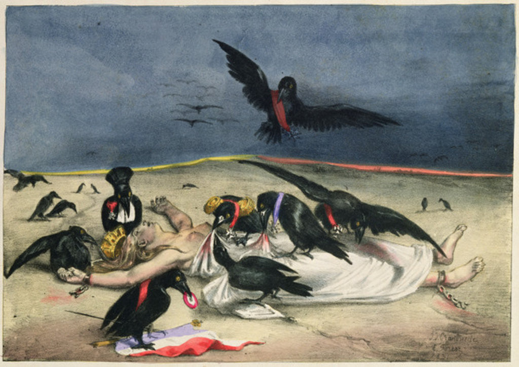 Detail of France delivered to crows of all kinds by Grandville