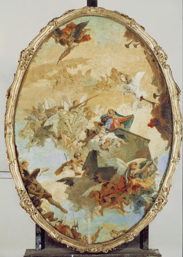 Detail of Translation of the Holy House from Nazareth to Loreto by Giovanni Battista Tiepolo