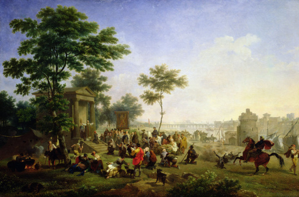 Detail of Mass in the Roman Countryside by Nicolas Antoine Taunay