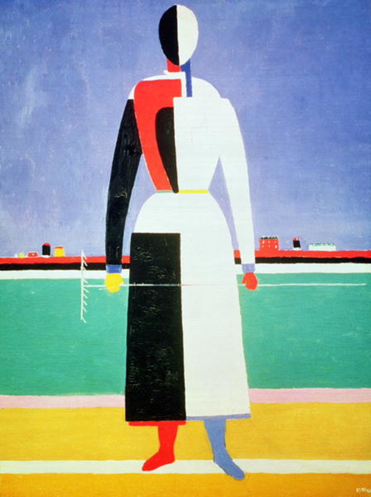 Detail of Woman with a Rake by Kazimir Severinovich Malevich
