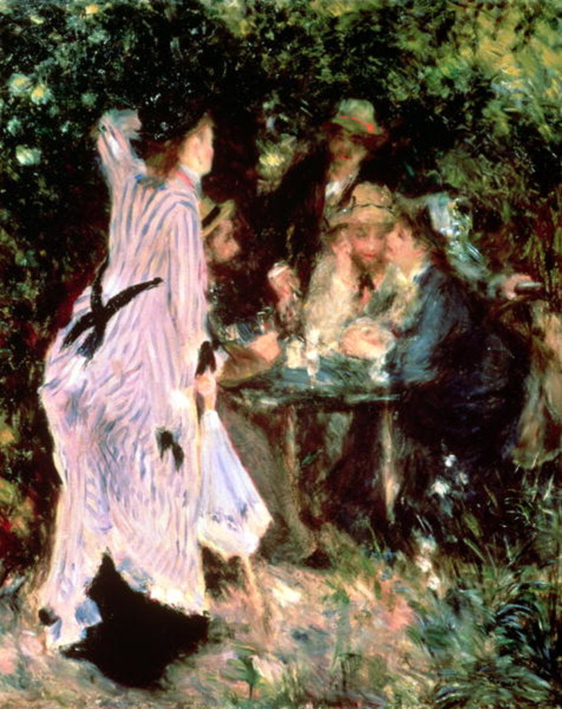 Detail of In the Garden, or Under the Trees of the Moulin de la Galette by Pierre Auguste Renoir