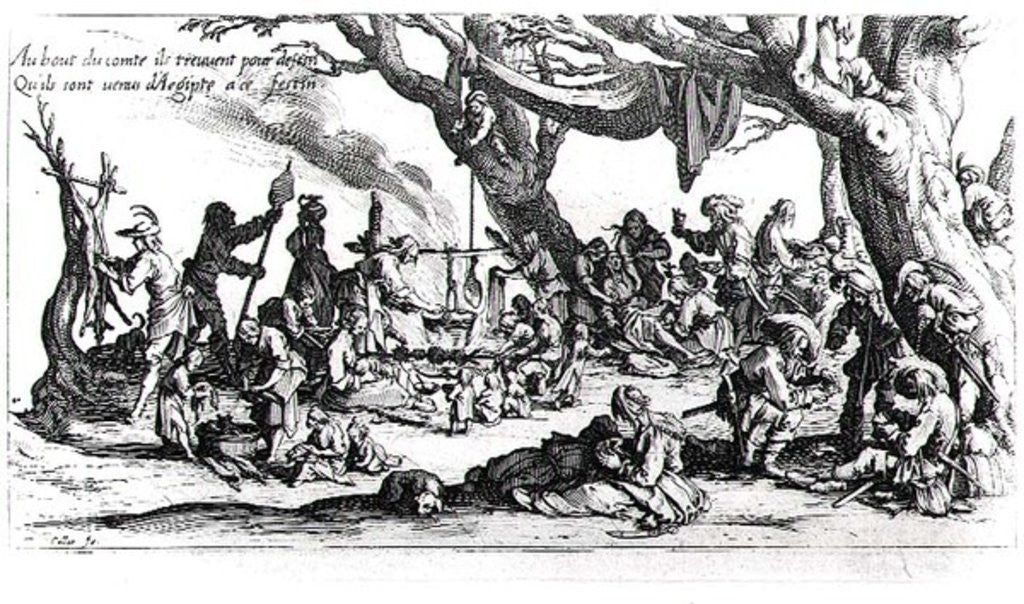Detail of A Birth in a Gypsy Camp by Jacques Callot