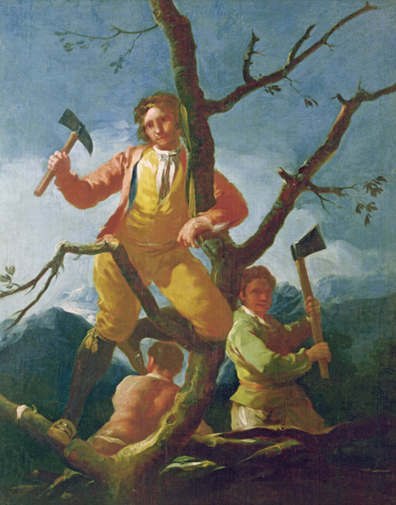 Detail of The woodcutters by Francisco Jose de Goya y Lucientes