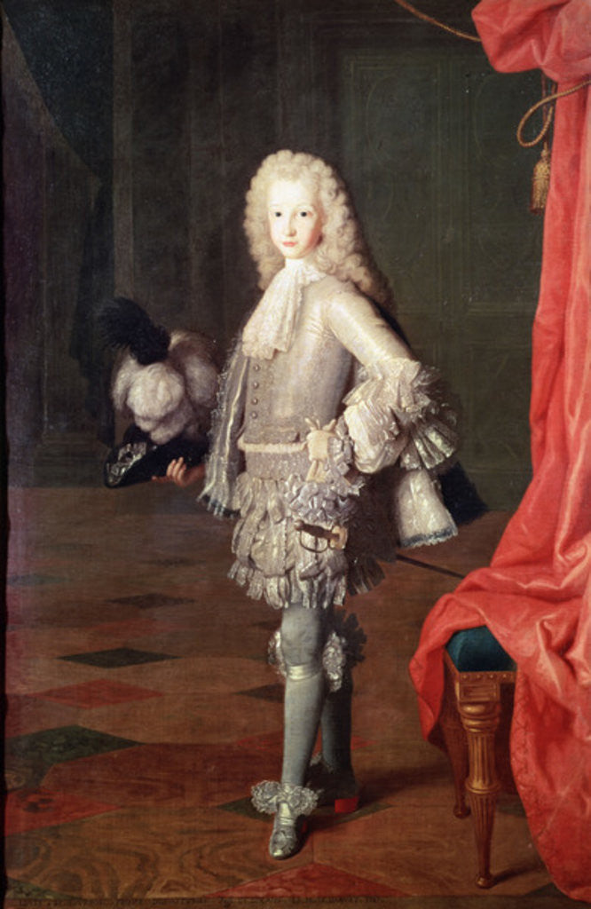 Detail of Portrait of Louis I of Spain by Michel-Ange Houasse