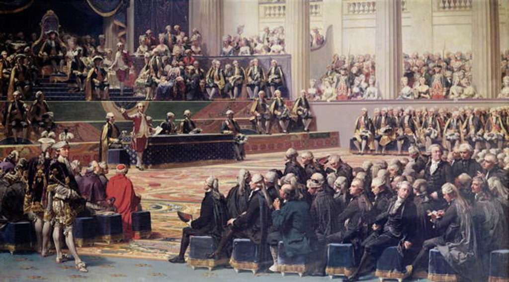 Detail of Opening of the Estates General at Versailles on 5th May 1789 by Louis Charles Auguste Couder