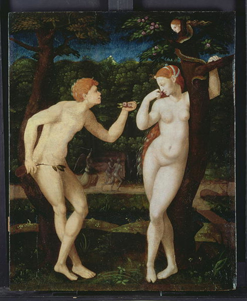 Detail of Adam and Eve by French School