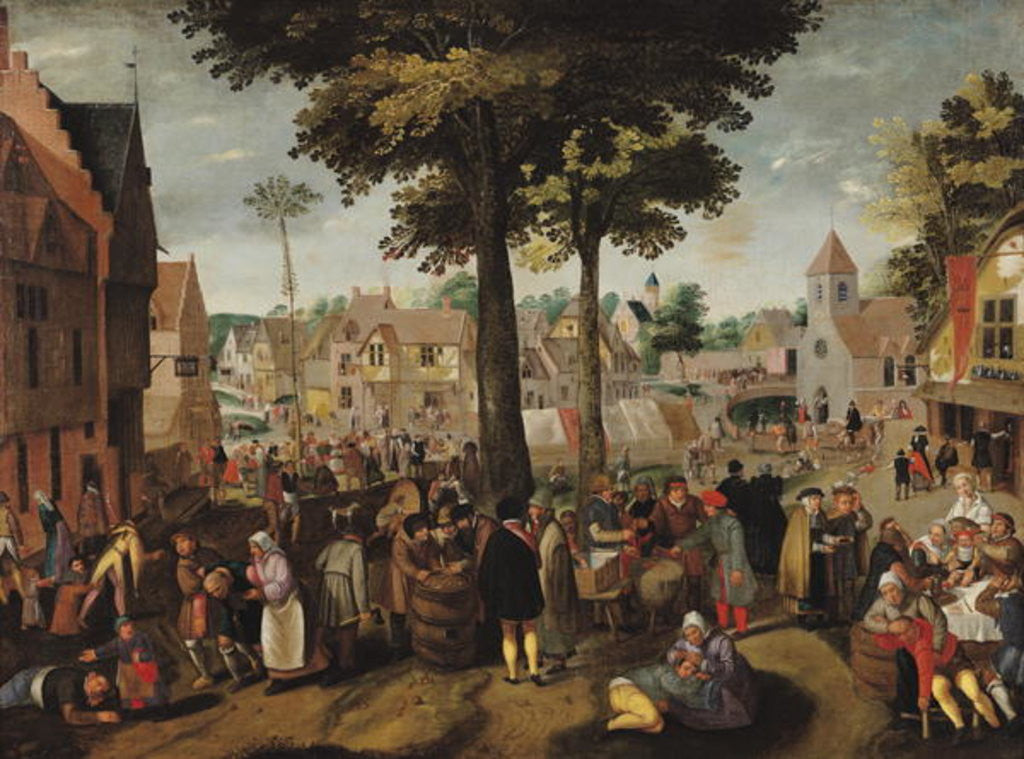 Detail of The Flemish Fair by Marten van Cleve