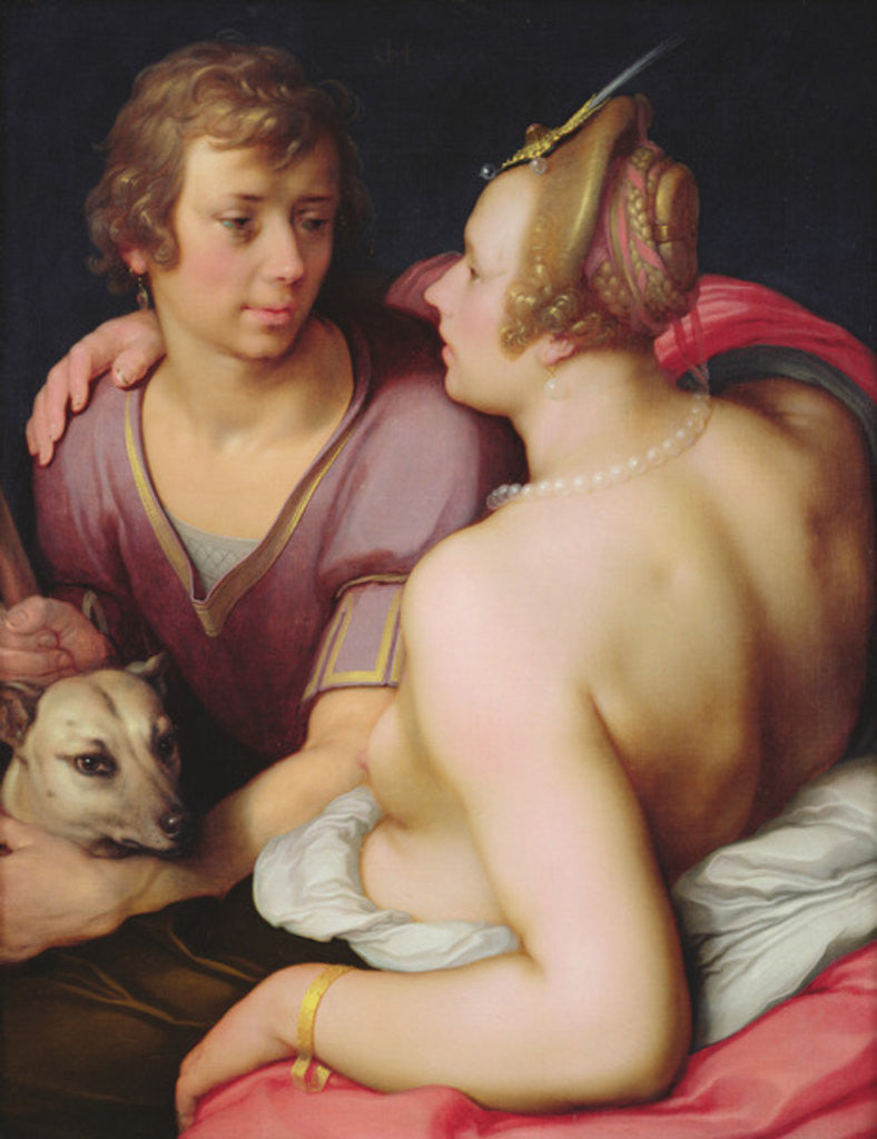Detail of Venus and Adonis by Cornelis Cornelisz. van Haarlem