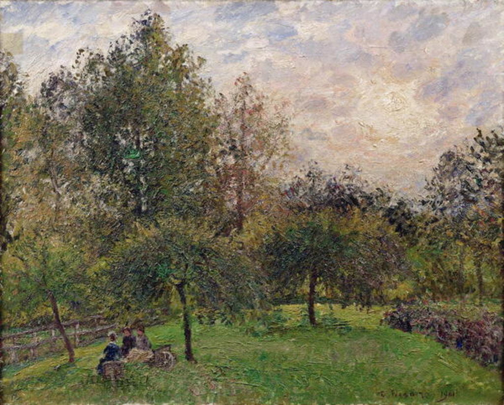 Detail of Apple Trees and Poplars in the Setting Sun by Camille Pissarro