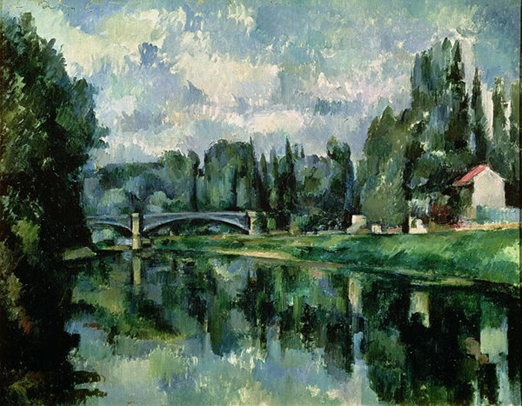 Detail of The Banks of the Marne at Creteil by Paul Cezanne
