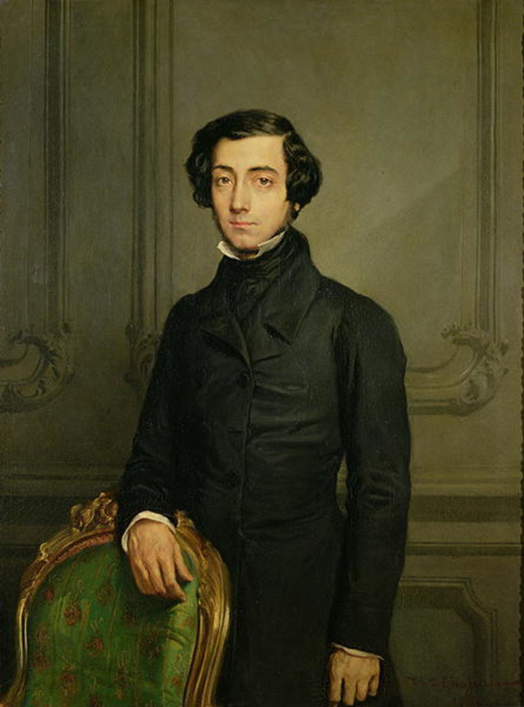 Detail of Charles-Alexis-Henri Clerel de Tocqueville by Theodore Chasseriau
