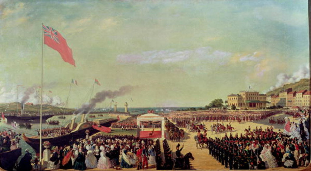 Detail of Napoleon III Welcoming Queen Victoria at the Port of Boulogne by Louis Armand