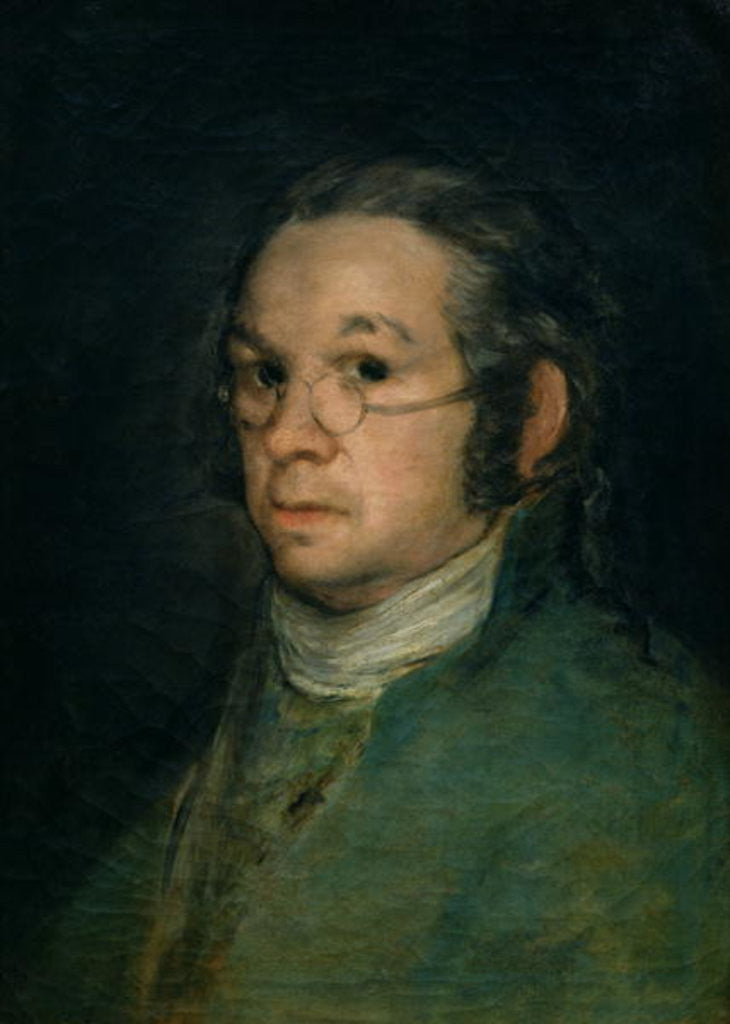 Detail of Self portrait with spectacles by Francisco Jose de Goya y Lucientes