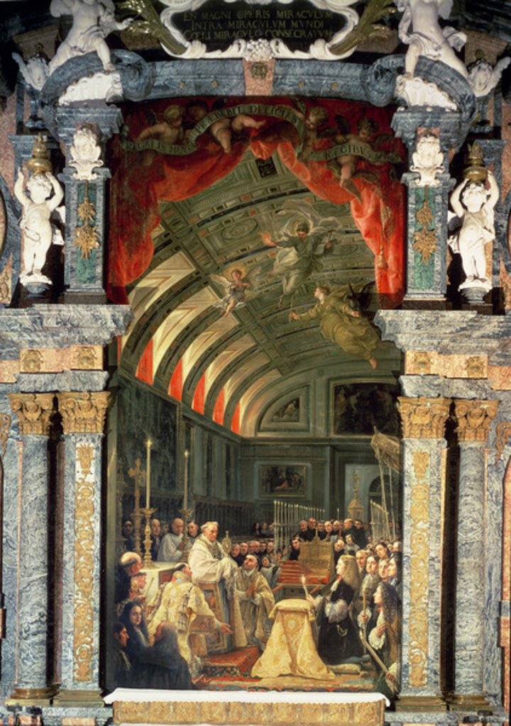 Detail of Holy Communion of Charles II and his Court by Claudio Coello