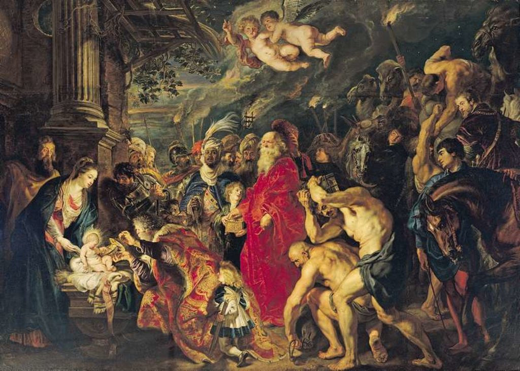 Detail of Adoration of the Magi by Peter Paul Rubens