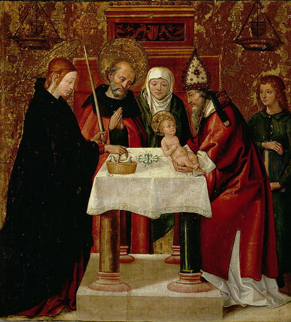 Detail of The Circumcision and The Presentation in the Temple by Juan de Borgona