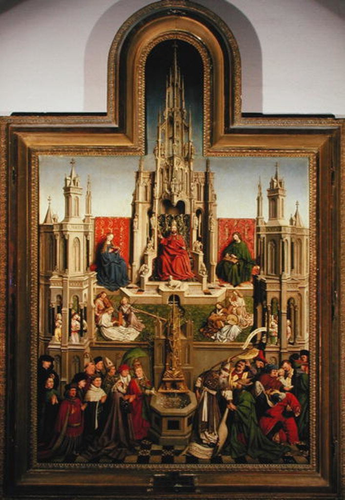 Detail of The Fountain of Life by Jan van Eyck