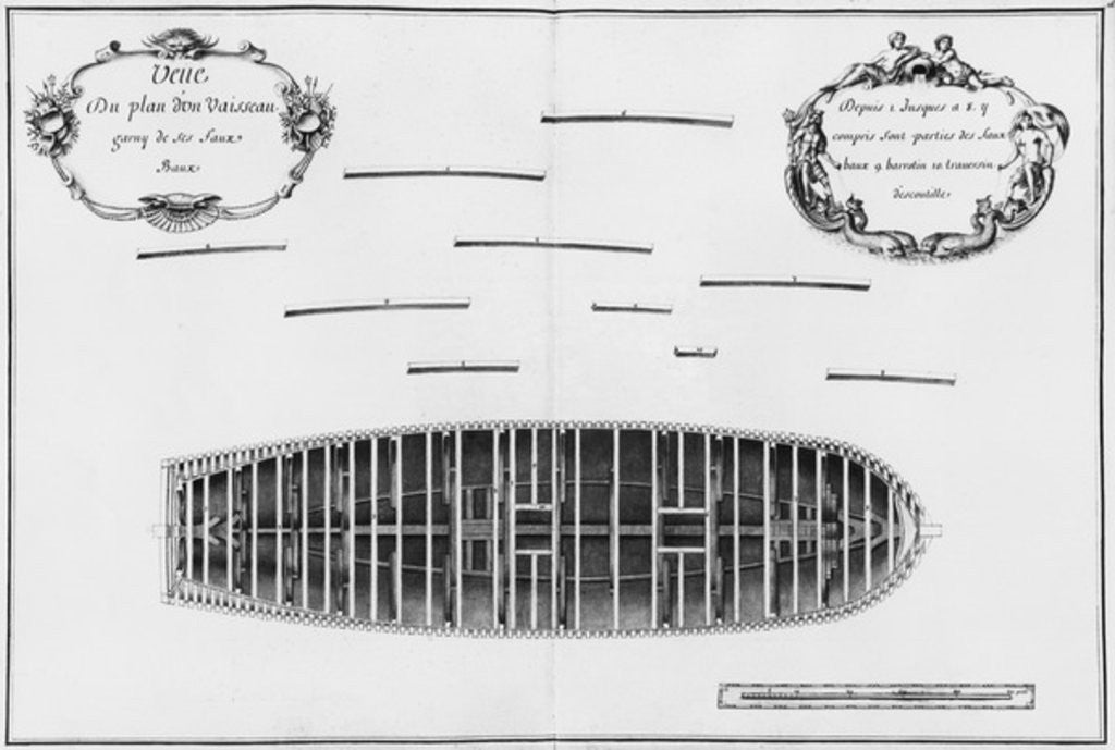 Detail of Plan of a vessel by French School