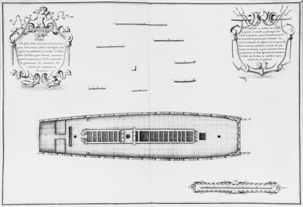 Detail of Plan of a vessel with an entirely completed third deck by plate 36