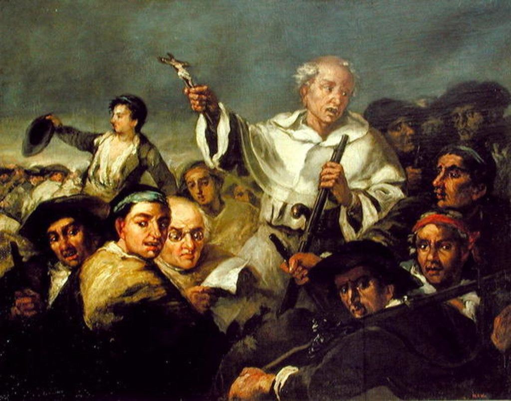 Detail of The Revolution by Eugenio Lucas Velazquez