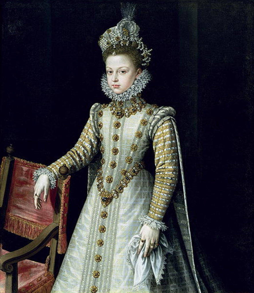 Detail of The Infanta Isabel Clara Eugenie by Alonso Sanchez Coello