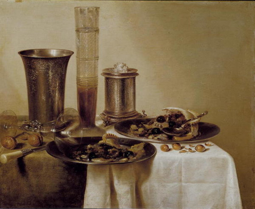 Detail of The Dessert by Willem Claesz. Heda