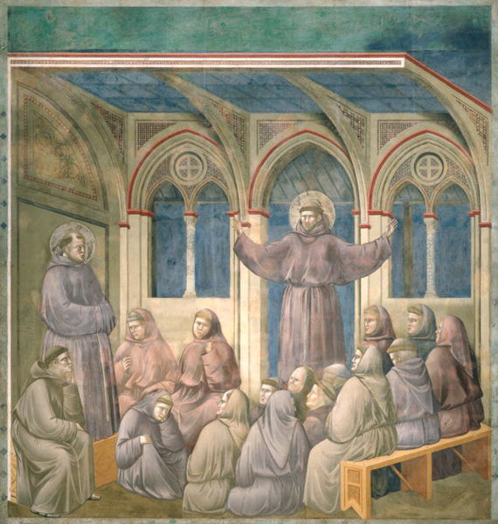 Detail of The Apparition at the Chapter House at Arles by Giotto di Bondone
